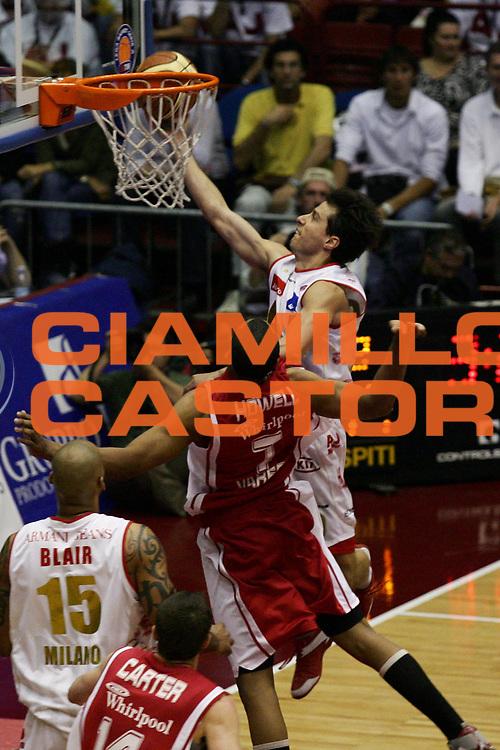 DESCRIZIONE : Milano Lega A1 2006-07 Playoff Quarti di Finale Gara 1 Armani Jeans Milano Whirlpool Varese<br /> GIOCATORE : Massimo Bulleri<br /> SQUADRA : Armani Jeans Milano<br /> EVENTO : Campionato Lega A1 2006-2007 Playoff Quarti di Finale Gara 1<br /> GARA : Armani Jeans Milano Whirlpool Varese<br /> DATA : 16/05/2007<br /> CATEGORIA : Tiro<br /> SPORT : Pallacanestro<br /> AUTORE : Agenzia Ciamillo-Castoria/L.Lussoso<br /> Galleria : Lega Basket A1 2006-2007<br /> Fotonotizia : Milano Campionato Italiano Lega A1 2006-2007 Playoff Quarti di Finale Gara 1 Armani Jeans Milano Whirlpool Varese<br /> Predefinita :