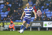 Michael Morrison (4) of Reading during the EFL Sky Bet Championship match between Reading and Luton Town at the Madejski Stadium, Reading, England on 9 November 2019.