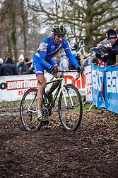 Martin HARING (61,SVK), 7th lap at Men UCI CX World Championships - Hoogerheide, The Netherlands - 2nd February 2014 - Photo by Pim Nijland / Peloton Photos