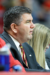 19 November 2011:  Media Relations Director Todd Kober during an NCAA mens basketball game between the Lipscomb Bison and the Illinois State Redbirds in Redbird Arena, Normal IL