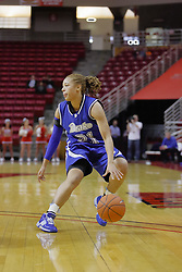 31 December 2009: Jordann Plummer. The Bulldogs of Drake fall to the Redbirds of Illinois State University by a score of 77-58in a Missouri Valley Conference game on Doug Collins Court in Redbird Arena in Normal Illinois.