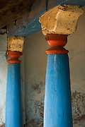 Pillars of a village home. South India.
