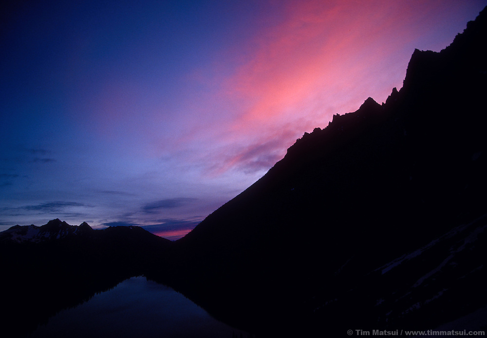 Sunrise over Colchuck Lake, the Enchantments.