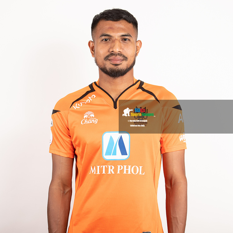 THAILAND - JUNE 24: Sompong Soleb #24 of Ratchaburi Mitr Phol FC on June 24, 2019.<br /> .<br /> .<br /> .<br /> (Photo by: Naratip Golf Srisupab/SEALs Sports Images/MB Media Solutions)