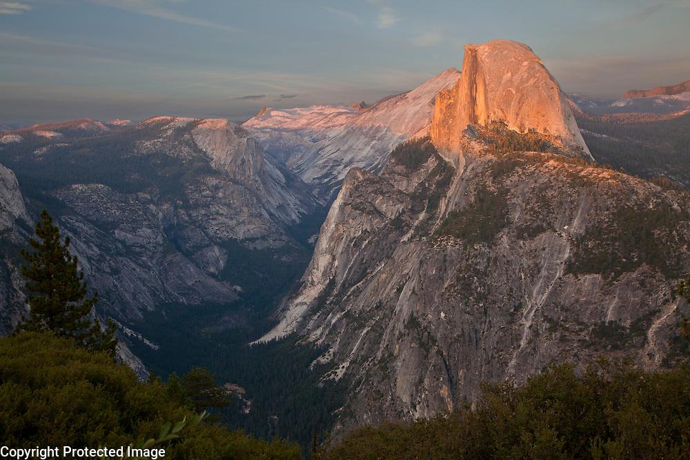 Half Dome in Yosemite at sunset