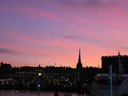 Stockholm at Sunset, December 10, 2003<br />