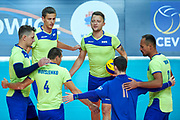 Katowice, Poland - 2017 September 03: SO Russia team while final match between SO Russia and SO Finland during European Unified Volleyball Tournament 2017 at Spodek Hall on September 03, 2017 in Katowice, Poland.<br /> <br /> Adam Nurkiewicz declares that he has no rights to the image of people at the photographs of his authorship.<br /> <br /> Picture also available in RAW (NEF) or TIFF format on special request.<br /> <br /> Any editorial, commercial or promotional use requires written permission from the author of image.<br /> <br /> Image can be used in the press when the method of use and the signature does not hurt people on the picture.<br /> <br /> Mandatory credit:<br /> Photo by &copy; Adam Nurkiewicz / Mediasport