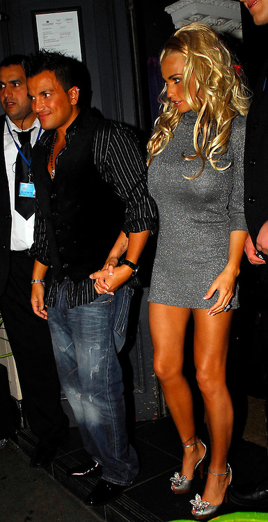 20.SEPTEMBER.2007. LONDON<br /> <br /> A VERY DRUNK JORDAN LEAVING MOVIDA NIGHT CLUB, AT 2.30AM WITH HUSBAND PETER ANDRE AND AS SHE GOT IN THE CAR SHE SHOWED OFF HER SILVER KNICKERS THEN THEY BOTH STARTED KISSING IN THE CAR.<br /> <br /> BYLINE: EDBIMAGEARCHIVE.CO.UK<br /> <br /> *THIS IMAGE IS STRICTLY FOR UK NEWSPAPERS AND MAGAZINES ONLY*<br /> *FOR WORLD WIDE SALES AND WEB USE PLEASE CONTACT EDBIMAGEARCHIVE - 0208 954 5968*