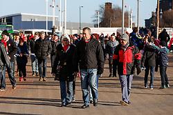 Supporters arrive at the stadium - Photo mandatory by-line: Rogan Thomson/JMP - 07966 386802 - 04/01/2015 - SPORT - FOOTBALL - Sunderland, England - Stadium of Light - Sunderland v Leeds United - FA Cup Third Round Proper.