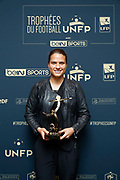 DZSENIFER MAROZSAN received the trophy of the best player of the women Division 1 during the 2017 UNFP (French National Professional Football players Union) trophy ceremony, on May 15, 2017, in Paris, France - Photo Stephane Allaman / ProSportsImages / DPPI