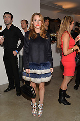 ROSIE FORTESCUE at the launch of The Lulu Perspective to celebrate 25 years of Lulu Guinness held at 74a Newman Street, London on 13th September 2014.