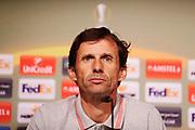 BILBAO, SPANIEN - 2017-11-01: Jos&eacute; &Aacute;ngel Ziganda, huvudtr&auml;nare i Athletic Bilbao under en presskonferens inf&ouml;r UEFA Europa League group J matchen mellan Athletic Bilbao och Ostersunds FK p&aring; Lezama Facilities den 1 November, 2017 i Bilbao, Spanien. <br /> Foto: Nils Petter Nilsson/Ombrello<br /> ***BETALBILD***