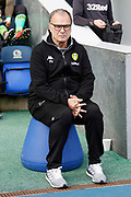 Leeds United Manager Marcelo Bielsa during the EFL Sky Bet Championship match between Blackburn Rovers and Leeds United at Ewood Park, Blackburn, England on 20 October 2018.