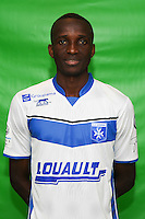 Hardy Binguila of Auxerre during Auxerre squad photo call for the 2016-2017 Ligue 2 season on September, 7 2016 in Auxerre, France ( Photo by Andre Ferreira / Icon Sport )