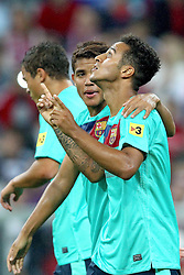 27.07.2011, Allianz Arena, Muenchen, GER, Audi Cup 2011, Finale,  FC Barcelona vs FC Bayern , im Bild Jubel nach dem Tor zum 2-0 durch Thiago (Barcelona #4)  // during the Audi Cup 2011,  FC Barcelona vs FC Bayern  , on 2011/07/27, Allianz Arena, Munich, Germany, EXPA Pictures © 2011, PhotoCredit: EXPA/ nph/  Straubmeier       ****** out of GER / CRO  / BEL ******