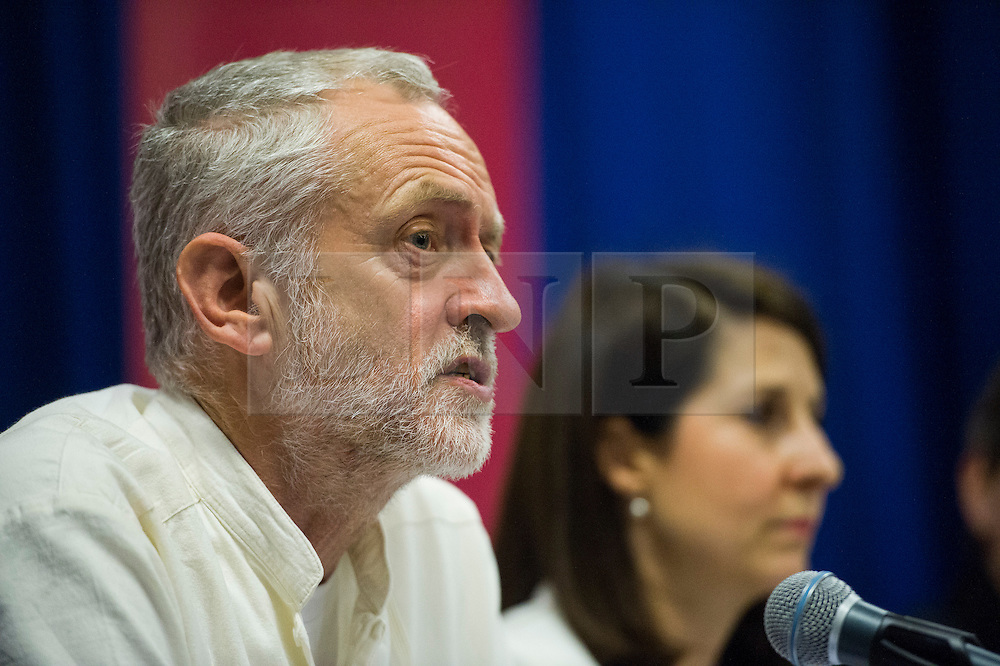 **File picture. Unite union have selected Jeremy Corbyn as their preferrence to be the next Labour Party leader**© Licensed to London News Pictures. 06/06/2015. London, UK. L to R Jeremy Corbyn and Liz Kendal. Current Labour Leadership candidates attend a debate at the Fabien Society Conference, held at the institute of Education in London. Photo credit: Ben Cawthra/LNP