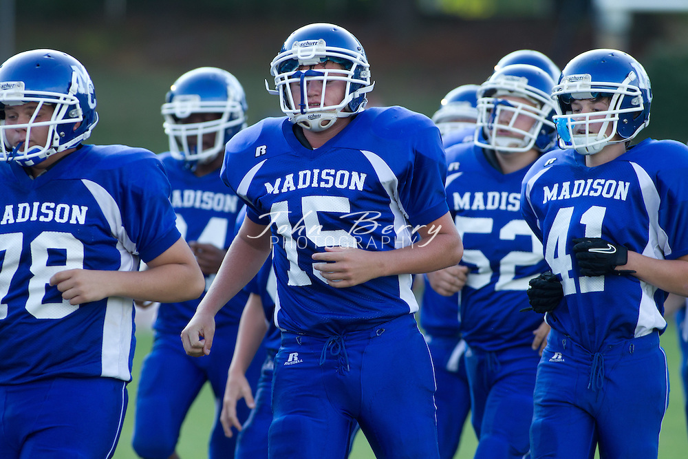 August/31/11:  MCHS Freshman Football vs Luray.  Game ends in a tie, Madison 34, Luray 34.