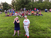 People watch on during a game between ABYB Bay State A Little League team and a visiting Chinese team from Beijing, the Powerbaseball Angels, at Veterans Field in Acton, Aug. 6, 2018. Acton won the game.   [Wicked Local Photo/James Jesson]