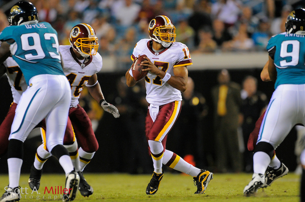 Jacksonville, FL; Sept 3, 2009: Washington Redskins quarterback Jason Campbell (17) during the Redskins game against the Jacksonville Jaguars at Jacksonville Municipal Stadium.