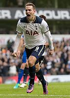 Football - 2016 / 2017 Premier League - Tottenham Hotspur vs. Leicester City<br /> <br /> Vincent Janssen of Tottenham at White Hart Lane.<br /> <br /> COLORSPORT/DANIEL BEARHAM