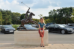 JADE WILLIAMS at the Audi International Polo at Guards Polo Club, Windsor Great Park, Egham, Surrey on 26th July 2014.