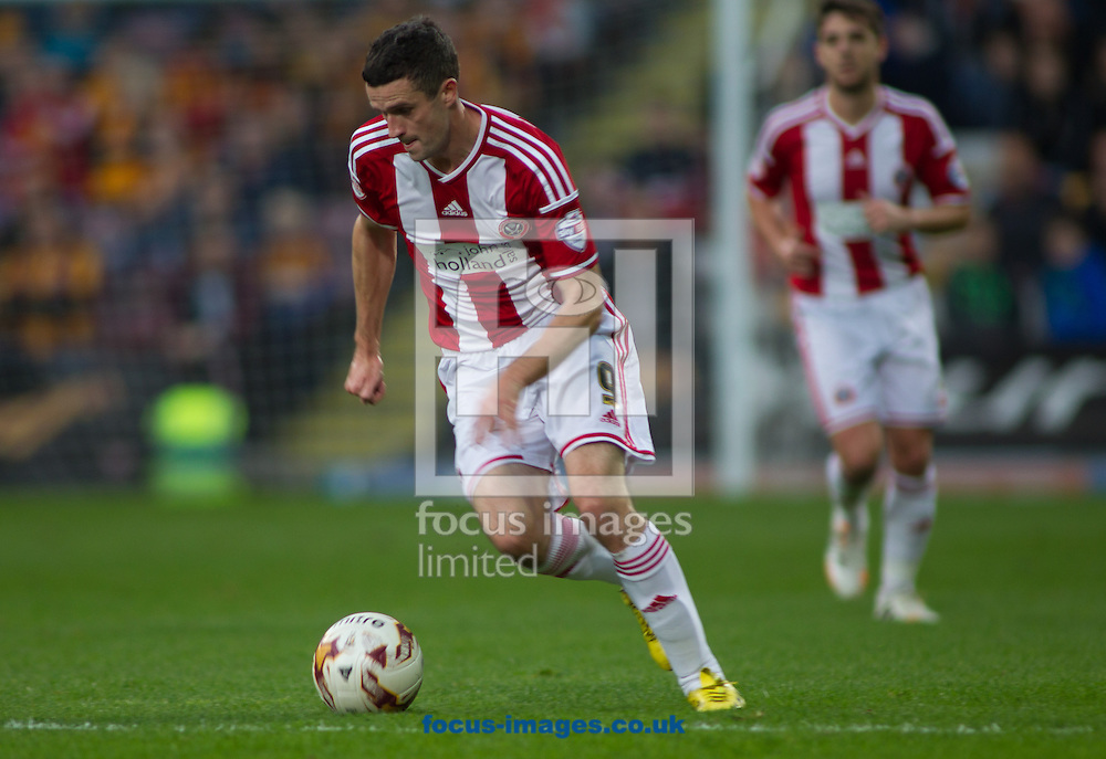 James Murphy of Sheffield United during the Sky Bet League 1 match at the Coral Windows Stadium, Bradford<br /> Picture by Stephen Gaunt/Focus Images Ltd +447904 833202<br /> 18/10/2014