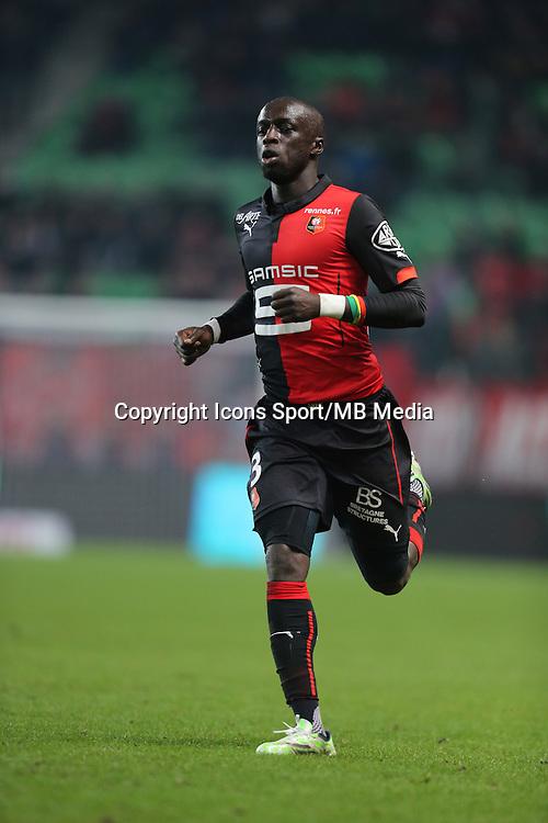 Cheik MBENGUE - 06.12.2014 - Rennes / Montpellier - 17eme journee de Ligue 1 -<br />Photo : Vincent Michel / Icon Sport
