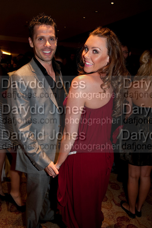 MICHELLE HEATON; HUGH HAMLEY, London Lifestyle Awards. Riverbank Park Plaza. London.6 October 2011. <br /> <br />  , -DO NOT ARCHIVE-© Copyright Photograph by Dafydd Jones. 248 Clapham Rd. London SW9 0PZ. Tel 0207 820 0771. www.dafjones.com.