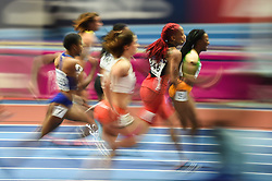 March 2, 2018 - Birmingham, England, United Kingdom - Michelle-Lee Ahye of Trinidad and Tobago at 60 meter semi final at World indoor Athletics Championship 2018, Birmingham, England on March 2, 2018. (Credit Image: © Ulrik Pedersen/NurPhoto via ZUMA Press)