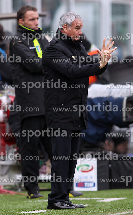 16.01.2011, Stadio Dino Manuzzi, Cesena, ITA, Serie A, AC Cesena vs AS Rom, im Bild L'ALLENATORE DELLA ROMA CLAUDIO RANIERI. EXPA Pictures © 2011, PhotoCredit: EXPA/ InsideFoto/ Luca Pagliaricci +++++ ATTENTION - FOR AUSTRIA/AUT, SLOVENIA/SLO, SERBIA/SRB an CROATIA/CRO CLIENT ONLY +++++