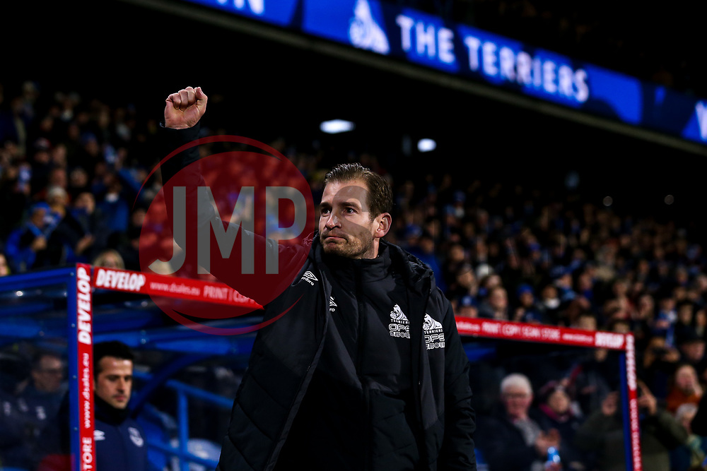 Huddersfield Town manager Jan Siewert waves to the fans - Mandatory by-line: Robbie Stephenson/JMP - 29/01/2019 - FOOTBALL - The John Smith's Stadium - Huddersfield, England - Huddersfield Town v Everton - Premier League