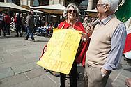 25 aprile, Festa della Liberazione. Milano, 2014. Disincanto politico.