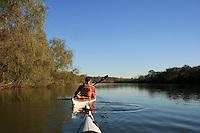 Kayaking along the Altamaha River in Southeast Georgia