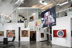 Mojo art gallery at Alserkal Avenue warehouses in Al Quoz district in Dubai United Arab Emirates