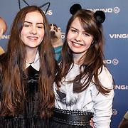 NLD/Amsterdam/20160213 - Premiere Zootropolis, Sarah en Julia Nauta
