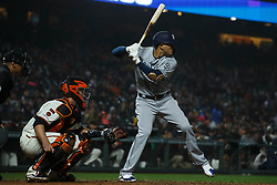SAN FRANCISCO, CA - APRIL 08: Manny Machado #13 of the San Diego Padres at bat against the San Francisco Giants during the seventh inning at Oracle Park on April 8, 2019 in San Francisco, California. The San Diego Padres defeated the San Francisco Giants 6-5. (Photo by Jason O. Watson/Getty Images) *** Local Caption *** Manny Machado