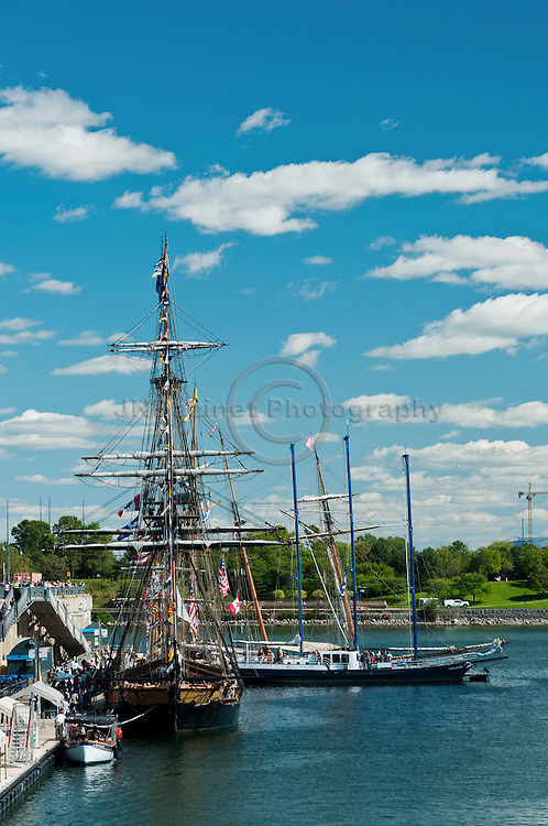 Tall ships at the Old Port of Montreal, QC.
