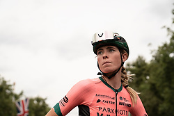 Demi Vollering (NED) of Parkhotel Valkenburg Cycling Team prepares for the Prudential RideLondon Classique, a 68 km road race starting and finishing in London, United Kingdom on August 3, 2019. Photo by Balint Hamvas/velofocus.com