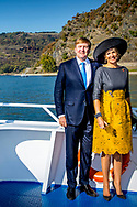 10-10-2018 - OBERWESEL - King Willem-Alexander and Queen Maxima on the boat during a boat trip on the Rhein river <br /> At the Oberwesel-Boppard during a 3 day visit to the German states Rijnland-Palts and Saarland. ROBIN UTRECHT