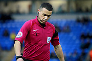 Under fire referee D Whitestone  during the EFL Sky Bet League 1 match between Peterborough United and Southend United at London Road, Peterborough, England on 3 February 2018. Picture by Nigel Cole.