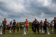 Shadow Drum and Bugle Corps practices in Oregon, Wisconsin on August 3, 2017. <br /> <br /> Beth Skogen Photography - www.bethskogen.com