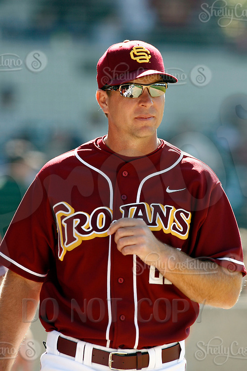 24 February 2007: Head Coach Chad Kreuter. USC Trojans College Baseball defeated the No. 21 Tulane Green Wave, 4-3, at Dedeaux Field on campus in Los Angeles, CA.