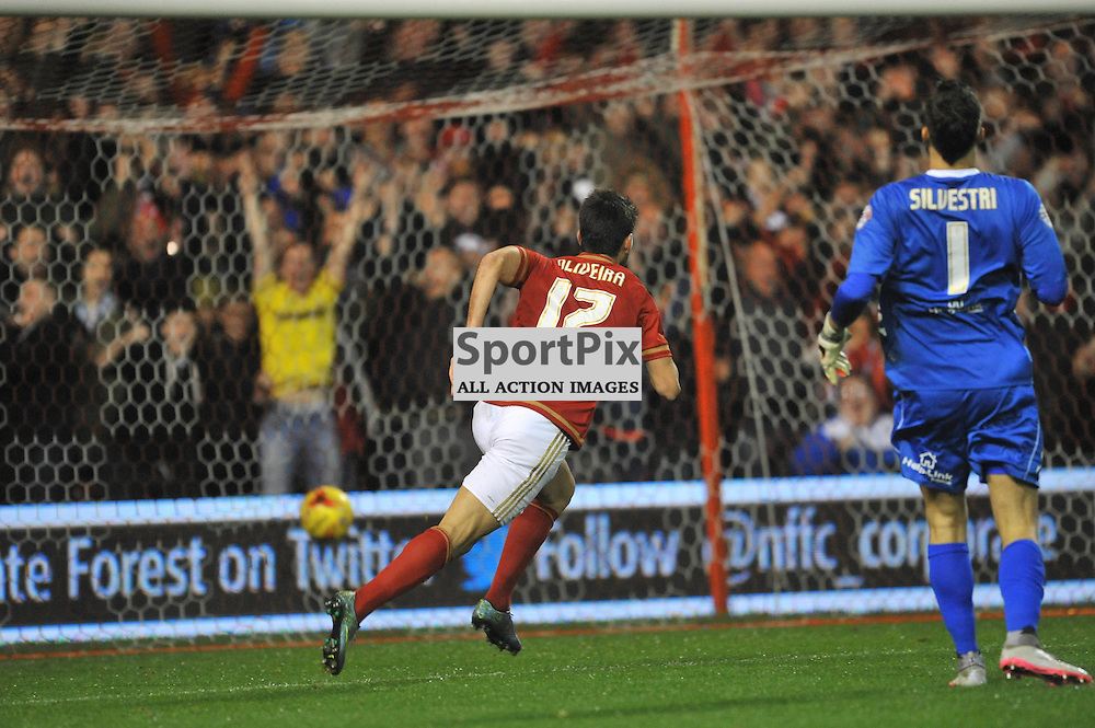 NELSON 1ST GOAL Nottingham Forest v Leeds United, Sky Bet Championship, City Ground, Sunday 27th December 2015