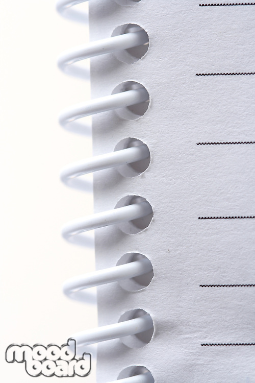 Note book spine - close-up