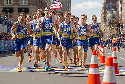 BAA Invitational Road Mile, Scholastic Boys Mile, winner Mike Schlichting leads from start