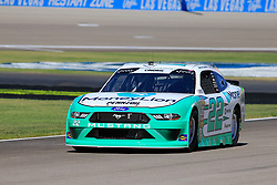 September 14, 2018 - Las Vegas, NV, U.S. - LAS VEGAS, NV - SEPTEMBER 14: Austin Cindric (22) Penske Ford Mustang down pit row during practice for the DC Solar 300 NASCAR Xfinity Series Playoff Race on September 14, 2018, at Las Vegas Motor Speedway in Las Vegas, NV. (Photo by David Griffin/Icon Sportswire) (Credit Image: © David Griffin/Icon SMI via ZUMA Press)