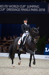Jessica VON BREDOW-WERNDL ( GER) & Unee BB - Grand Prix Freestyle - FEI World Cup™ Dressage Final - FEI World Cup™ Dressage Final - Longines FEI World Cup Finals Paris - Accor Hotels Arena, Bercy, Paris, France - 14 April 2018