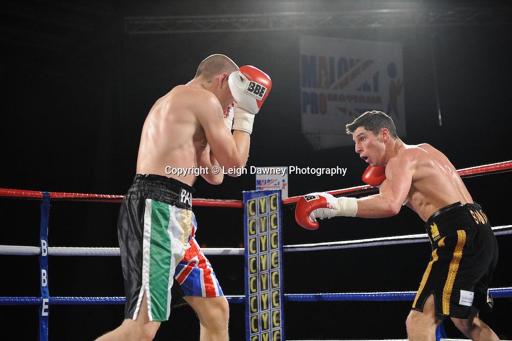 Tommy Coyle defeats Andrew Patterson - 22nd January 2011 at Doncaster Dome, Doncaster - Frank Maloney Promotions. Credit © Leigh Dawney.