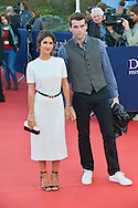 Geraldine Nakache and Stanley Weber attends the red carpet during the 41st Deauville American Film Festival on September 6, 2015 in Deauville, France