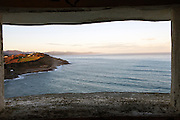 A view of the Basque coast from Getaria.